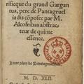 Olvasás: kihívás (François Rabelais: Gargantua et Pantagruel)