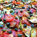 Mediterrán zöldséglepény mustáros alapon