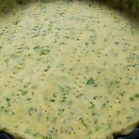 Gombával, petrezselyemmel készült quiche