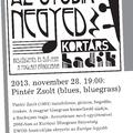 AZ ÖTÖDIK NEGYED - Beszélgetés és élő zene a Foglalt Páholyban NOVEMBER 28-án 19. 00-kor
