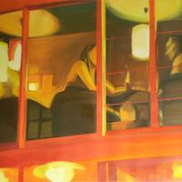A Hadik Kávéház első kiállítása: Opánszki Tamás - Kávéház éjjel