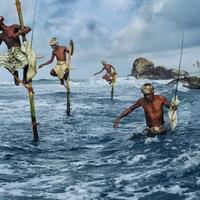 Extrém horgászok gólyalábon