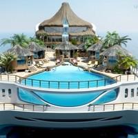 Úszó trópusi sziget