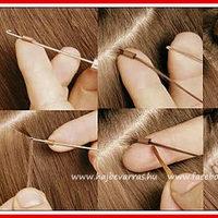 Hideg eljárással /vegyszermentesen/ készült hajhosszabbítási tincses technikák