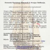 A Történelmi Vitorláshajó Makettezők Országos Találkozója idén jubilál