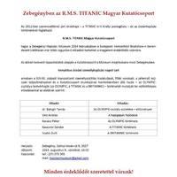 Zebegényben az R.M.S. TITANIC Magyar Kutatócsoport