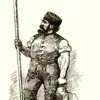 Öreg halász szigonnyal - Magyar halászat könyve