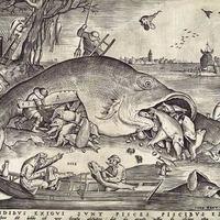 A nagy hal megeszi a kis halakat - 1557 - Pieter Bruegel