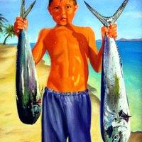 Fiú és a dórádók - halak, büszkeség