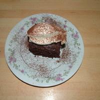 Kókuszos brownie colával, mascarponés joghurthabbal