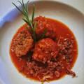 Sonkás húsgombóc, olasz paradicsommártásban