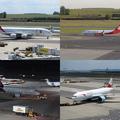 Teraszról spotterkedés a schwechati repülőtéren