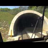 Alagútnézőben Ausztriában: Railjet a vezetőfülkéből