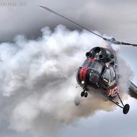 Két helikopter Budaörsön