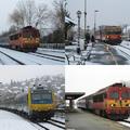 Vonatok a téli Balaton körül