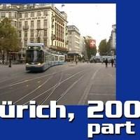 Tüchtig város tüchtig villamosai: tíz percnyi Zürich