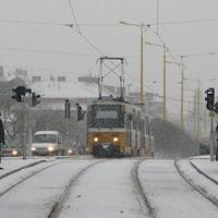 A budapesti tél és a villamosok