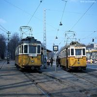 Acélvázasított villamosok Budapest utcáin