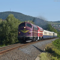 Svéd mozdony dán színekben, német tulajdonban, magyar síneken