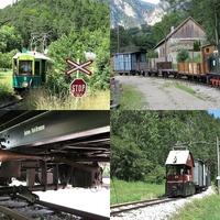 Keskeny nyomtávú villamosvasút az Alpok tövében