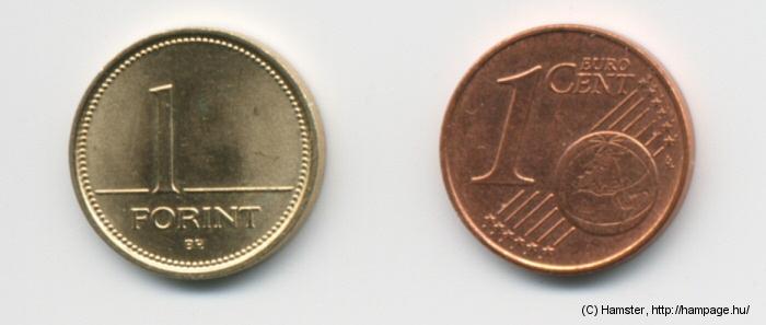 1 Euro cent hány forint