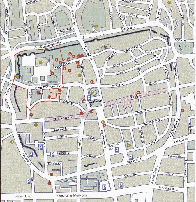 pécs belváros térkép A kultúra útjai   hángörienidiocc pécs belváros térkép