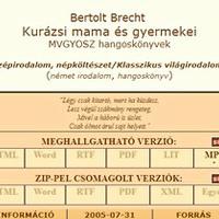 Brecht: Kurázsi mama. Hangoskönyv