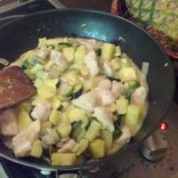 Ananászos-cukkinis csirkemell