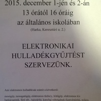 Elektronikai hulladékgyűjtés 2015