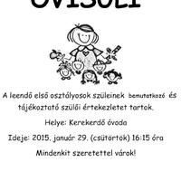 Információ az Ovisuliról - 2015