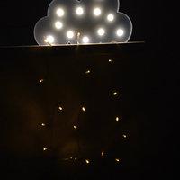 Világító felhő dekoráció gyerekszobába