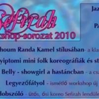 Sefirah nyári workshopjai