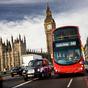 London egy piros busz volánja mögül