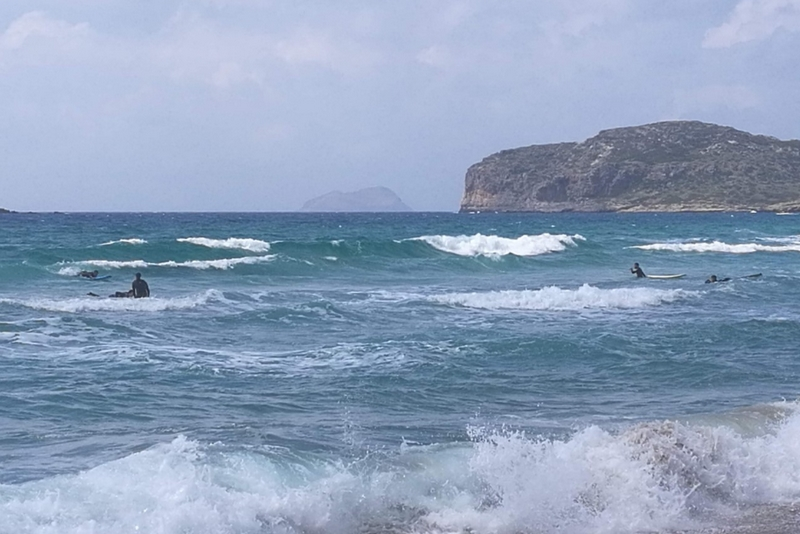Falassarna, a szörfösök paradicsoma