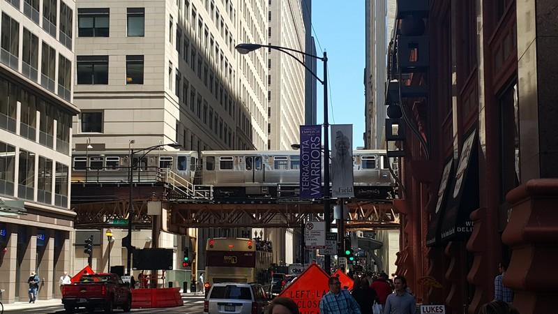 A magasvasút Chicago egyik különlegessége.