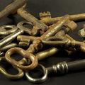 Rozsdás régi kulcsok