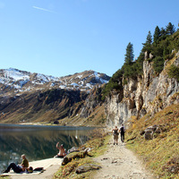 Kirándulás az Alpokban, a Tappenkarsee-hez