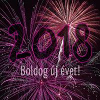 Boldog új évet - tűzijátékkal