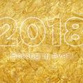 Aranyszínű újévi üdvözletek