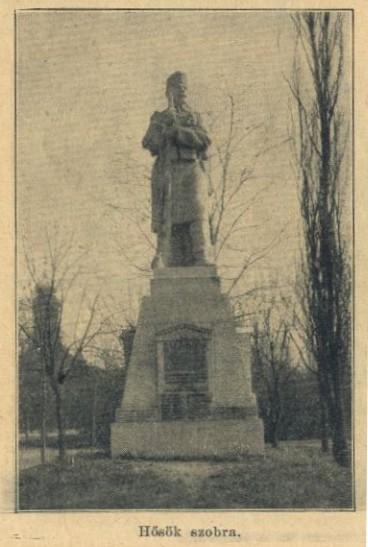 Hősök szobra, az 1917. november 25-én felavatott I. világháborús emlékmű, amelyet a hatvani köznyelv Őrszemként ismer.
