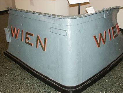 A kiemelt hajódarab napjainkban, a Velencei Tengerészeti Múzeumban.<br />(forrás: kuk-kriegsmarine.at/wien.htm)