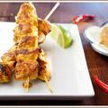 Thai csirke satay, földimogyoró mártással