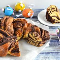 Húsvéti dekadencia- tahinis-csokis kalács