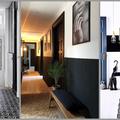 Fekete és fehér színben pompázó folyosók