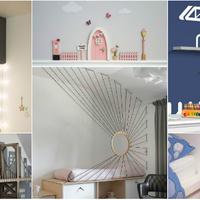Kreatív dekorációk, amik szuperül feldobják a gyerekszobákat
