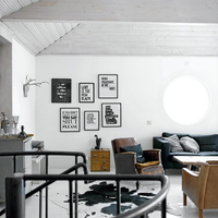 Minimalista ipari vintage fekete-fehérben