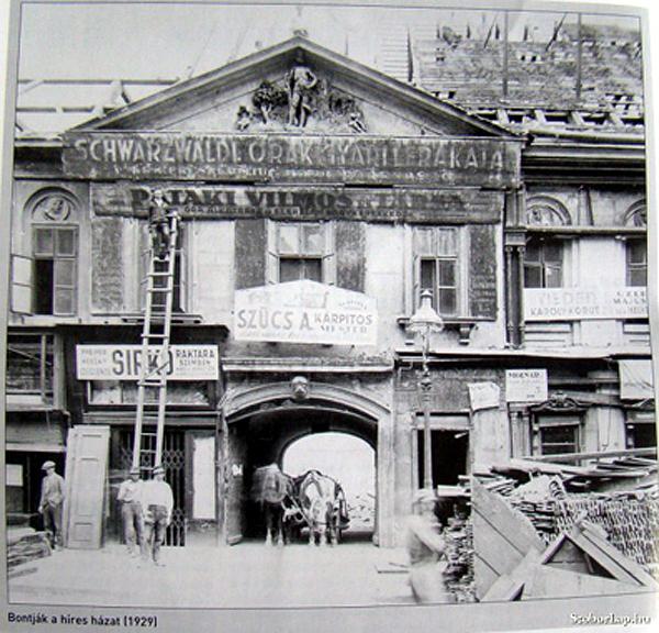 16 Károly krt Vadember ház bontása 1929 via ludbriko hu.jpg