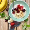Gyümölcsös tejberizs növényi tejből cukormentesen