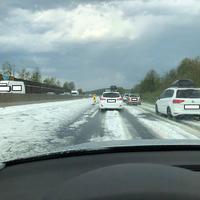 Állt a jég az autópályán: durva viharok tomboltak Ausztria keleti részén és az Őrségben