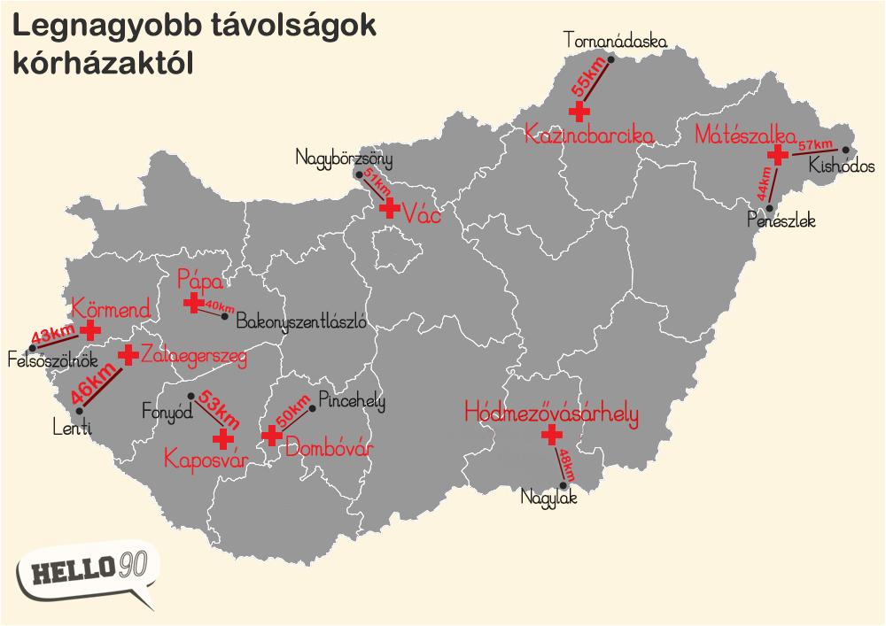 magyarország térkép kazincbarcika 9 térkép Magyarországról, amit még tuti nem láttál   Hello90 magyarország térkép kazincbarcika